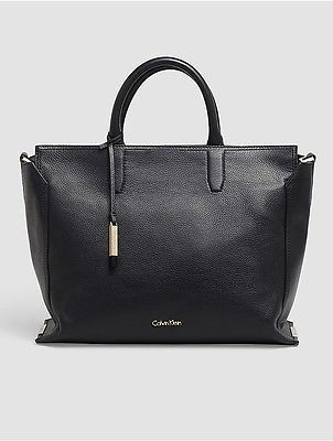 Calvin KleinCalvin Klein Womens Keyla Leather Tote Bag Black