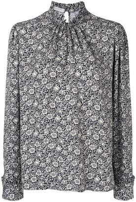 Philosophy di Lorenzo Serafini floral ruched neck blouse