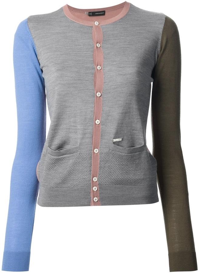 DSquared DSQUARED2 colour block cardigan