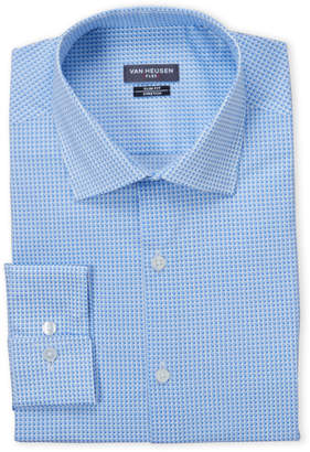 Van Heusen Stream Geo Stretch Slim Fit Dress Shirt