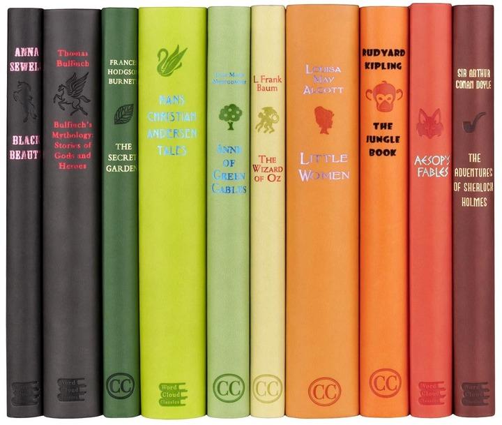 """Juniper Books Classic Literature Book Set """"Revist the Classics"""""""