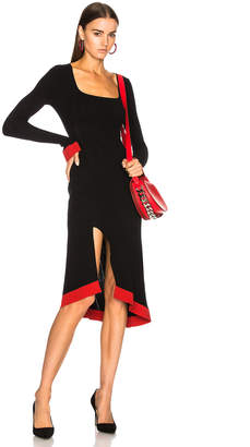Esteban Cortazar Long Sleeve Corset Knit Dress