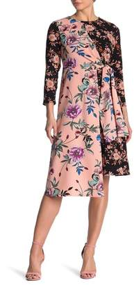 Spense Mixed Print Long Sleeve Dress