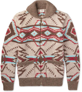 Faherty Huron Shawl-Collar Wool and Alpaca-Blend Zip-Up Cardigan
