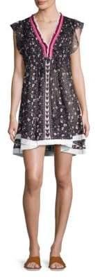 Poupette St Barth Pippa V-Neck Mini Dress