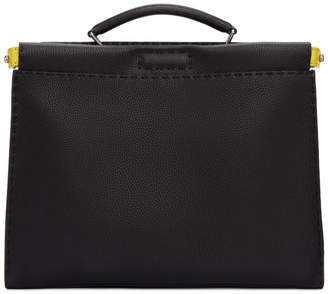 Fendi Black Bag Bugs Peekaboo Briefcase