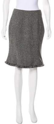 Christian Dior Knee-Length Wool-Blend Skirt
