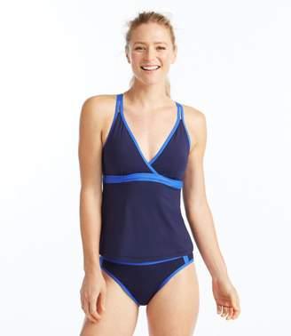 L.L. Bean L.L.Bean ReNew Swimwear, V-Neck Tankini Colorblock