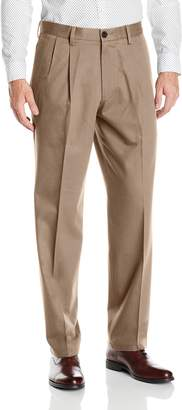 Dockers Classic Fit Signature Khaki Pant - Pleated D3, Charcoal Heather/Stretch, 33x30