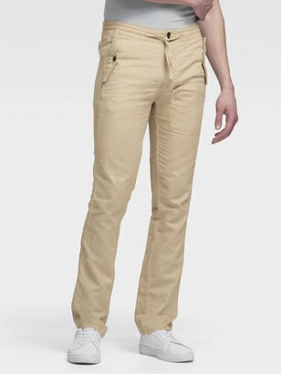 DKNY Linen-Cotton Pull-On Pant