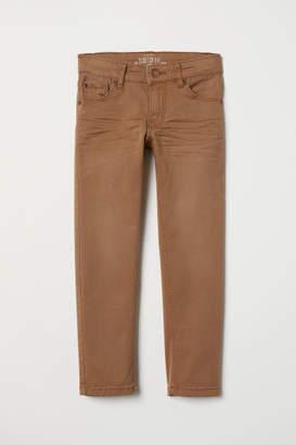 H&M Slim-fit Twill Pants - Beige