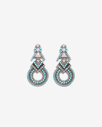 Express Turquoise Encrusted Drop Earrings