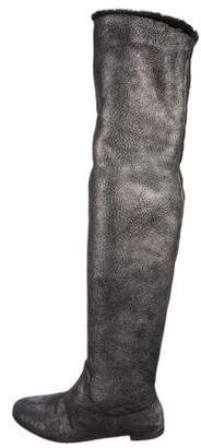 Vicini Metallic Over-The-Knee Boots