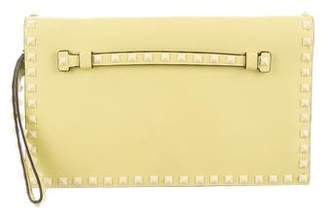 Valentino Leather Rockstud Clutch