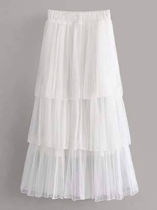 Shein Tiered Layered Tulle Skirt