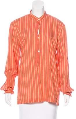 Michael Kors Striped Long Sleeve Top