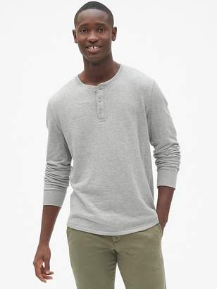 Gap Long Sleeve Double-Face Henley