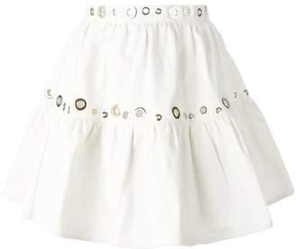 Kenzo eyelet denim skirt