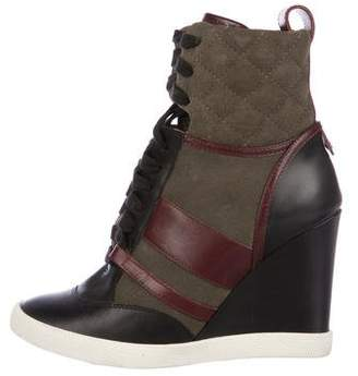 Chloé Leather Sneaker Wedges
