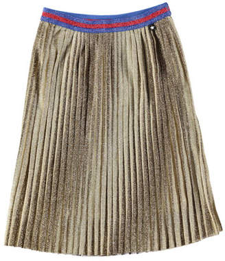 Molo Bailini Metallic Pleated Skirt, Size 3T-12
