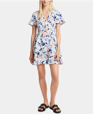 French Connection Armoise Crepe Floral-Print Dress