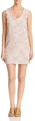 Lilla P Fringe Trimmed Striped Shift Dress $188 thestylecure.com