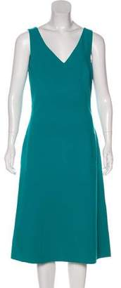 Michael Kors Virgin Wool Sleeveless Midi Dress
