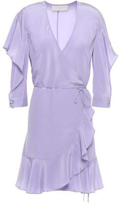 Mason by Michelle Mason Ruffled Silk Crepe De Chine Mini Wrap Dress