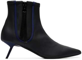 Ballin Alchimia Di black Perka 55 zip up leather ankle boots