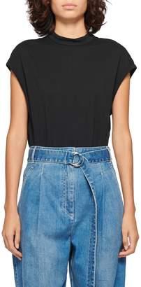 Tibi Mock Neck T-Shirt