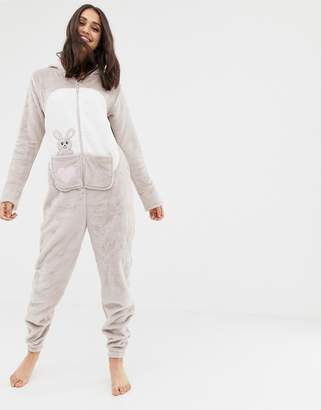 d42dfe572e Loungeable kangaroo applique onesie with front pouch