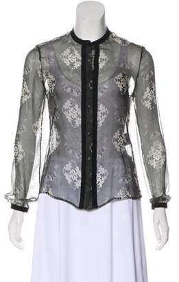 Alexander McQueen Silk Button-Up Top