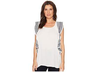 Bobeau B Collection by Skyler Embroidered Blouse Women's Blouse