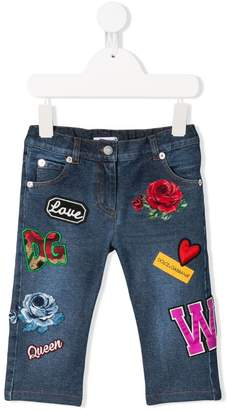 Dolce & Gabbana patch detail jeans