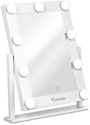 Dwelllifestyle White Embellir Standing LED Make-Up Mirror