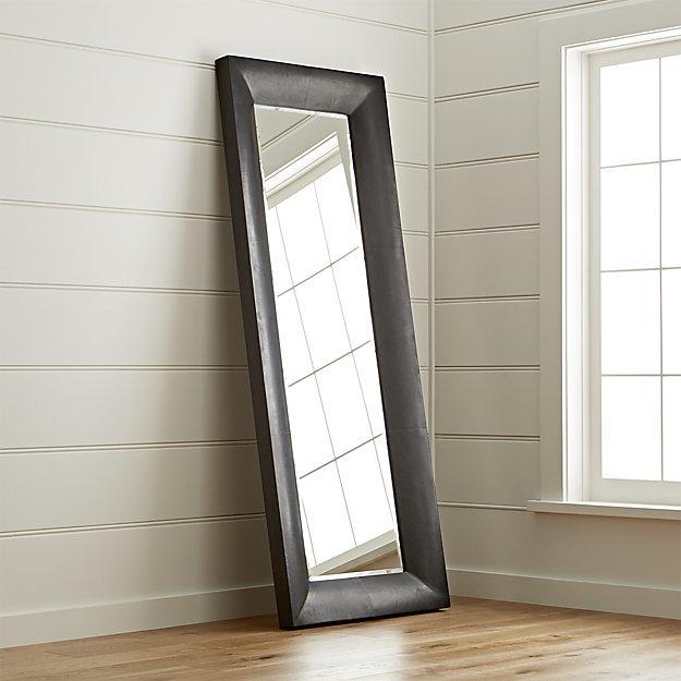 Crate & Barrel Maxx Black Floor Mirror