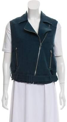 Elizabeth and James Linen-Blend Zip-Up Vest