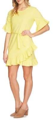 1 STATE 1.STATE Asymmetrical Ruffle Wrap Dress