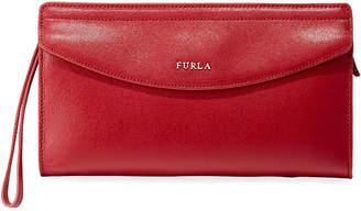 Furla Tea XL Saffiano Leather Envelope Clutch Bag