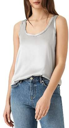Reiss Remy Mixed-Media Tank