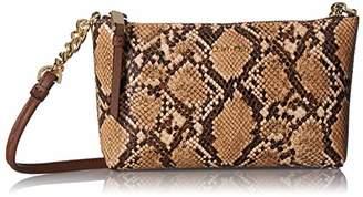 Calvin Klein Hayden Key Item Saffiano Top Zip Chain Crossbody Purse