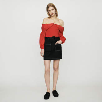 Maje Short skirt with stitched detailing