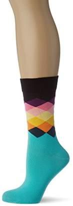 Happy Socks Women's Faded Diamond Socks,4-7 (Manufacturer Size: )