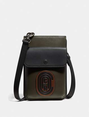 Coach Hybrid Pouch In Colorblock With Patch