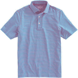 Vineyard Vines Mens Kennedy Stripe Sankaty Performance Polo