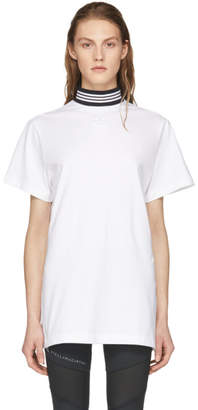 adidas White Cotton T-Shirt