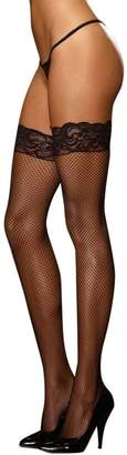 Dreamgirl Micro Fishnet Thigh Highs