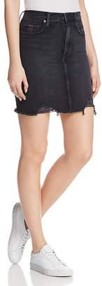 Nobody Siren Denim Skirt in Notion