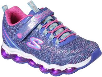 Skechers Kid's Swift Kicks - Emoti Match Sneakers, Blue/Turquoise/Neon Pink