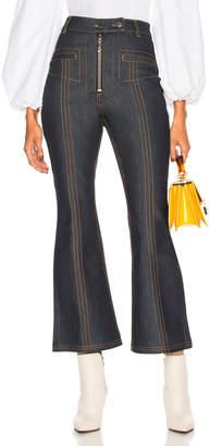 Ellery Hemisphere Crop Flare Jeans